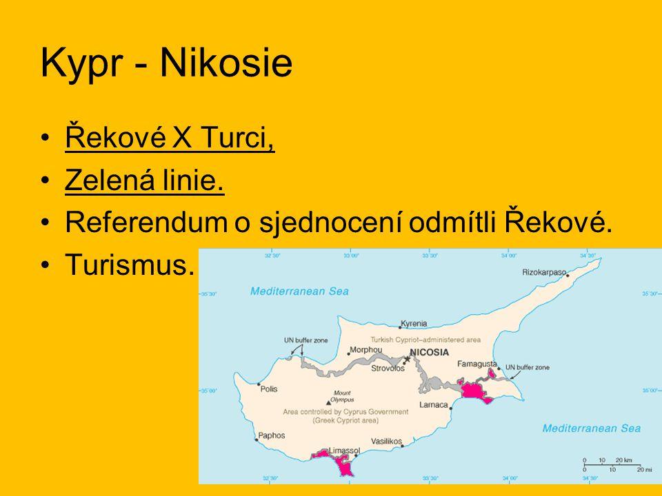 Kypr - Nikosie Řekové X Turci, Zelená linie.