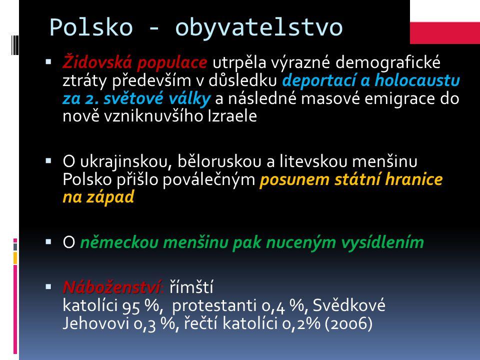 Polsko - obyvatelstvo