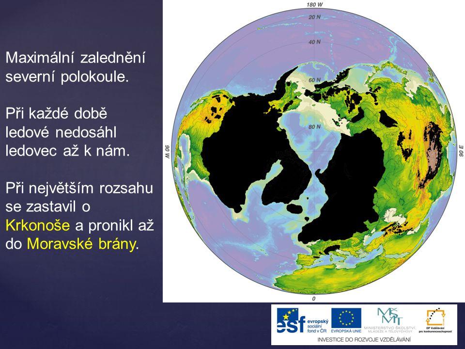 Maximální zalednění severní polokoule.