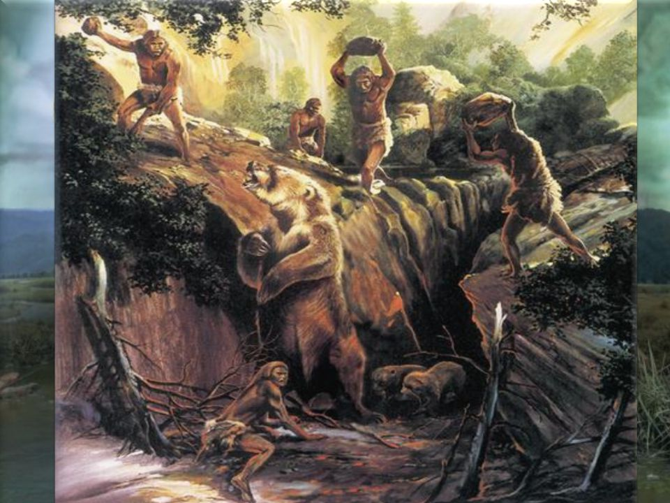Novinkou v životě těchto lidí byl kolektivní lov velkých zvířat, jako byli jeleni, sloni, bizoni či nosorožci.