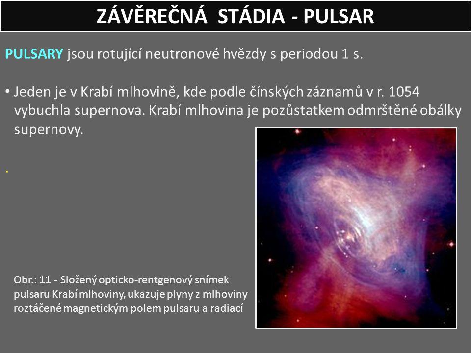 ZÁVĚREČNÁ STÁDIA - PULSAR
