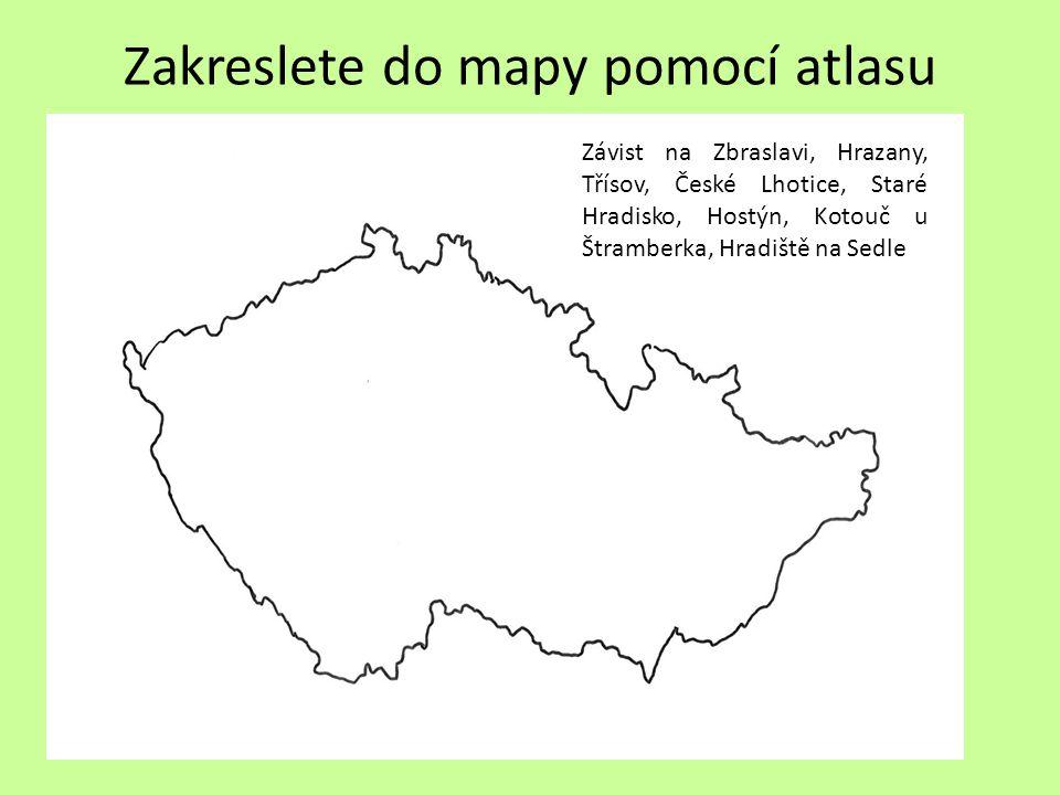 Zakreslete do mapy pomocí atlasu