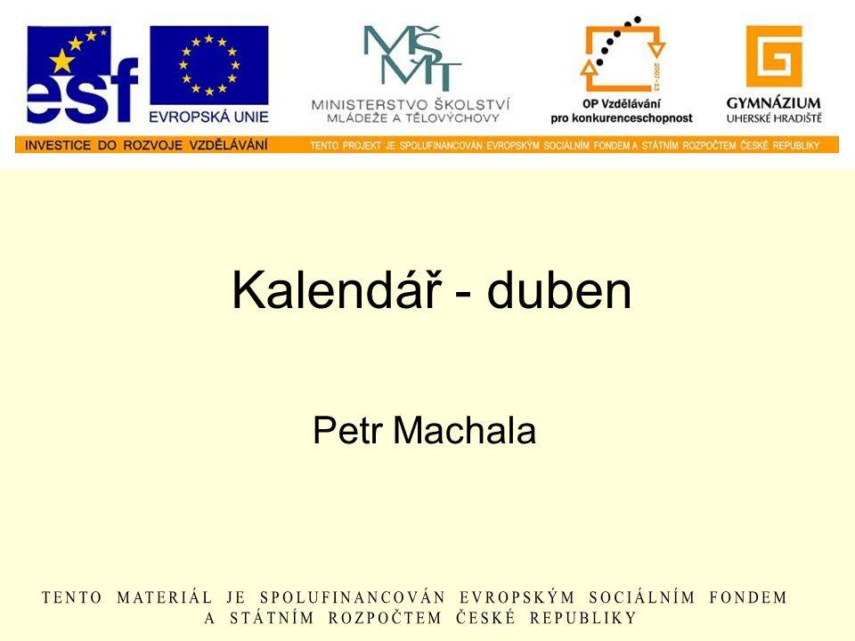 Kalendář - duben Petr Machala