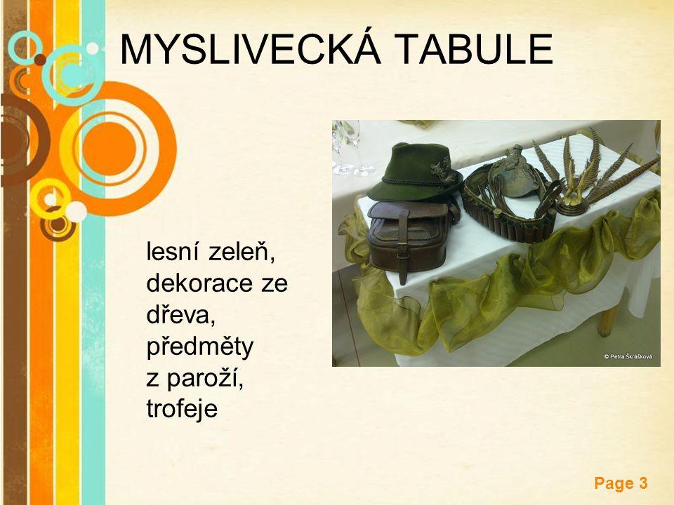 MYSLIVECKÁ TABULE lesní zeleň, dekorace ze dřeva, předměty z paroží, trofeje