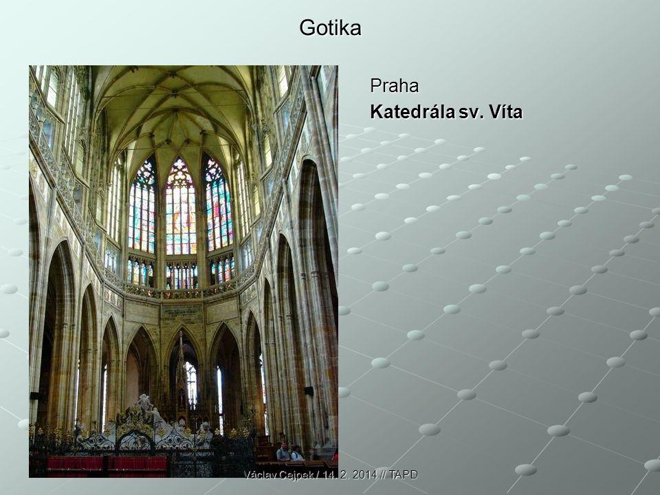 Gotika Praha Katedrála sv. Víta Václav Cejpek / 14. 2. 2014 // TAPD