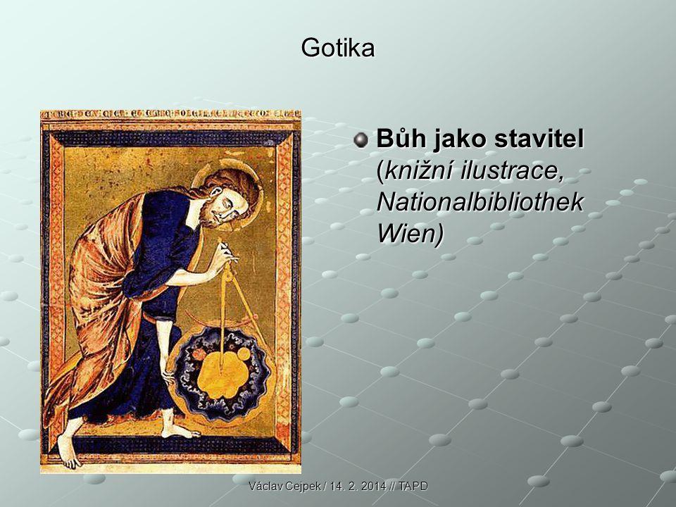 Bůh jako stavitel (knižní ilustrace, Nationalbibliothek Wien)