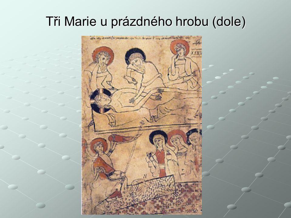 Tři Marie u prázdného hrobu (dole)