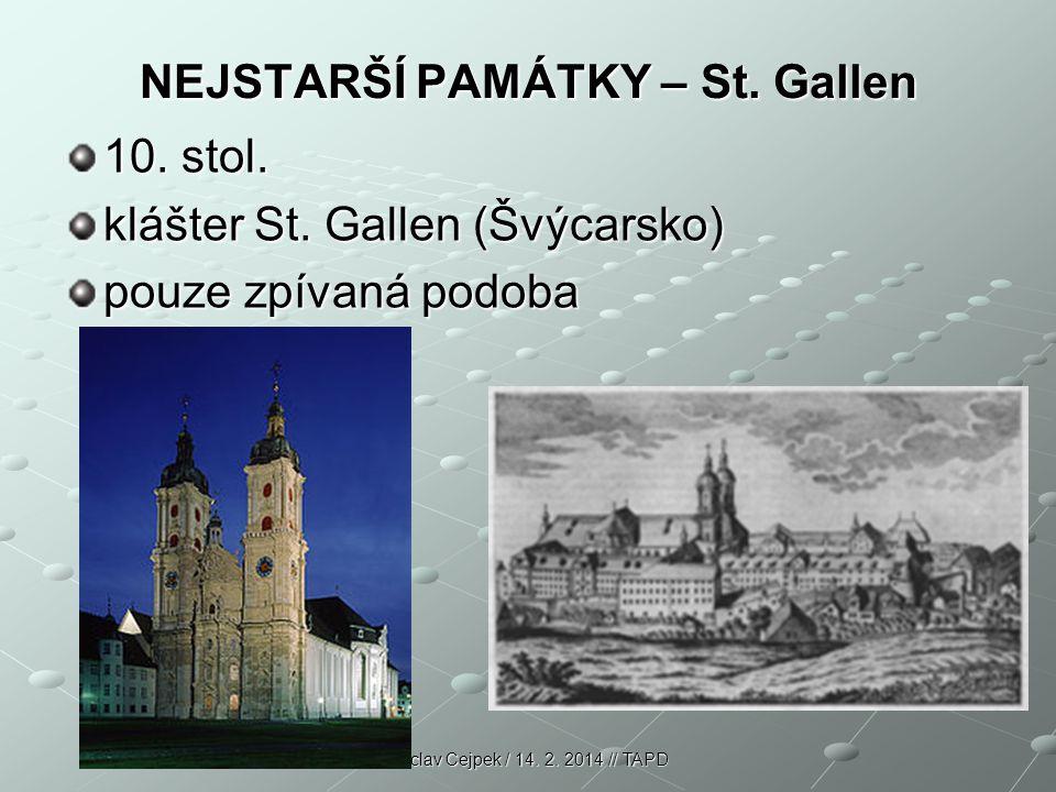 NEJSTARŠÍ PAMÁTKY – St. Gallen