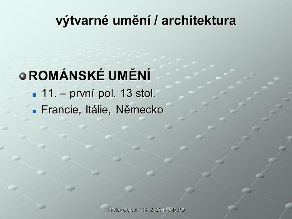 výtvarné umění / architektura