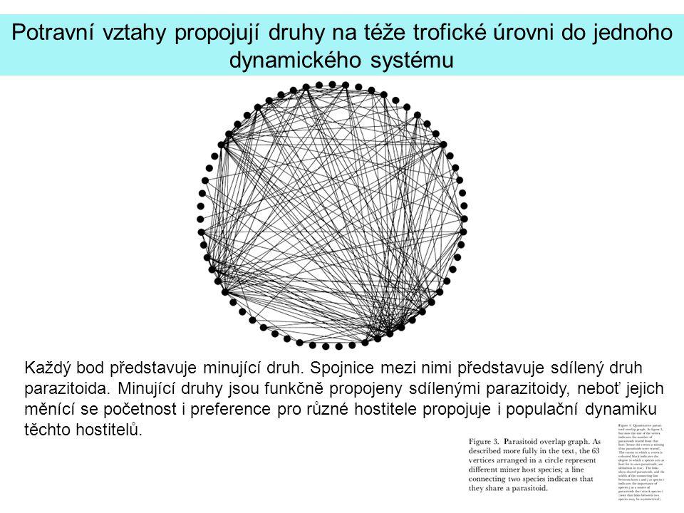 Potravní vztahy propojují druhy na téže trofické úrovni do jednoho dynamického systému