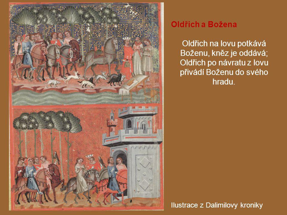 Oldřich na lovu potkává Boženu, kněz je oddává;