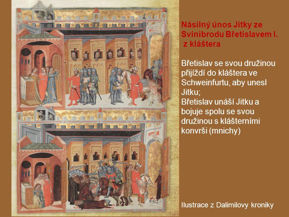 Násilný únos Jitky ze Svinibrodu Břetislavem I. z kláštera