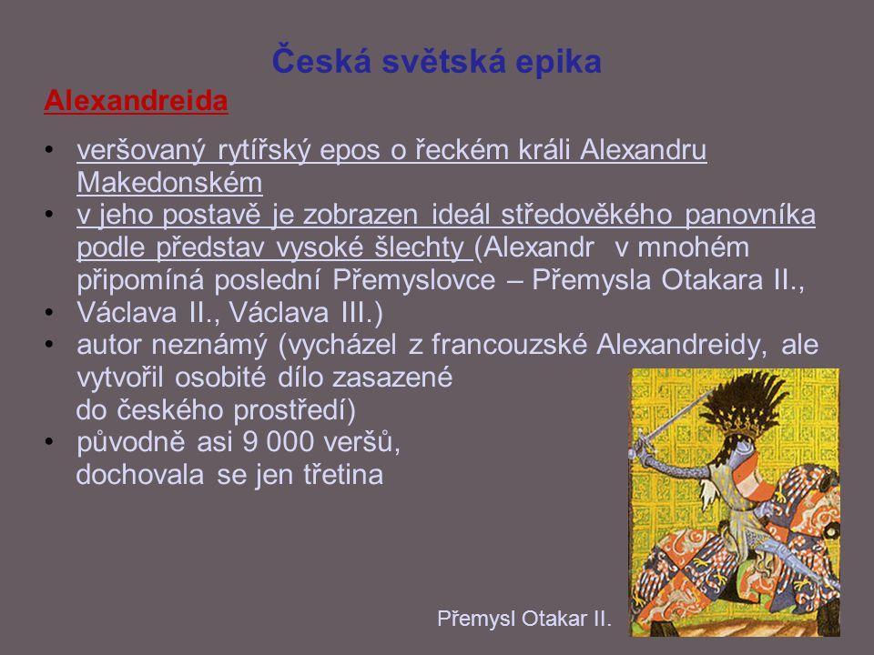 Česká světská epika Alexandreida