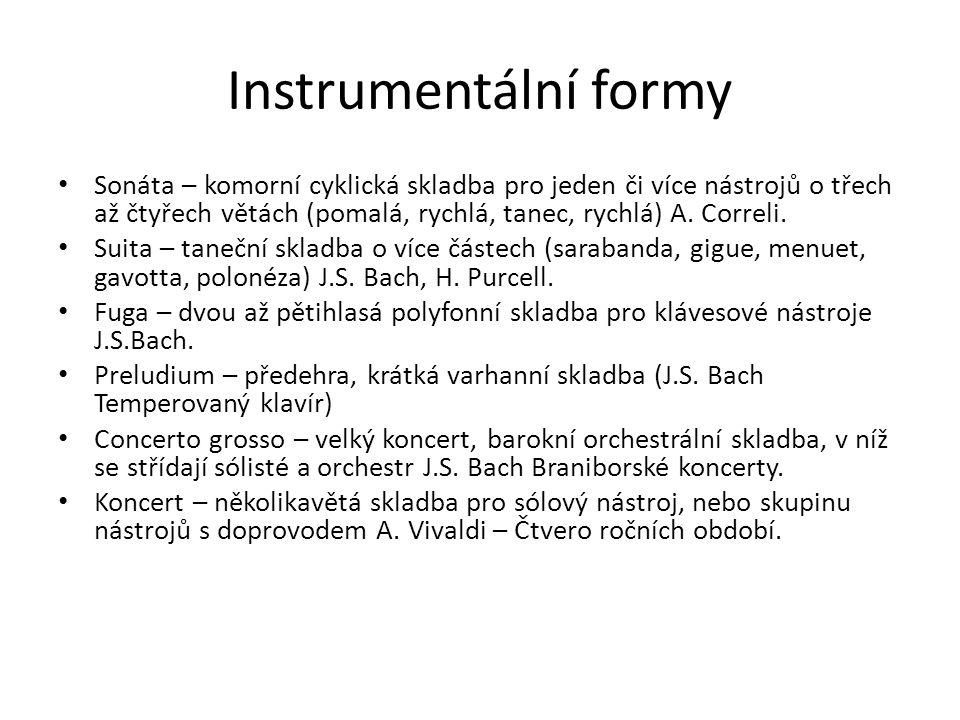 Instrumentální formy