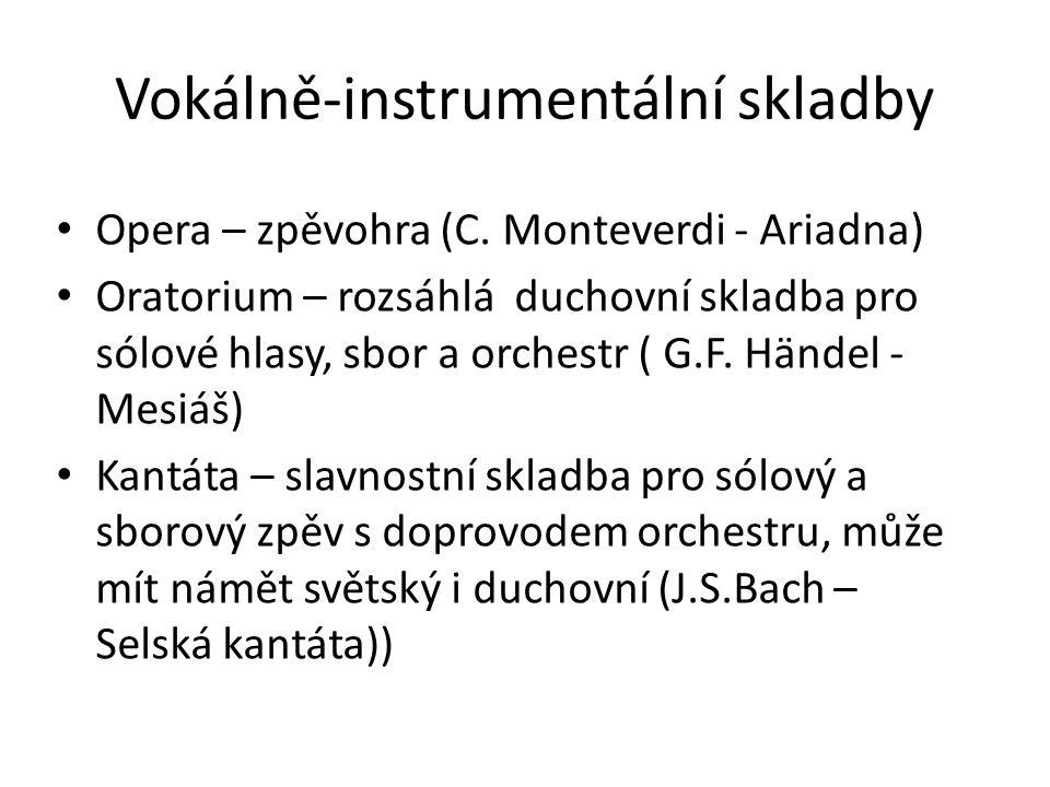Vokálně-instrumentální skladby