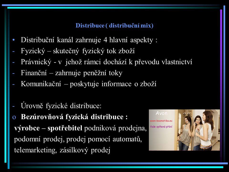 Distribuce ( distribuční mix)