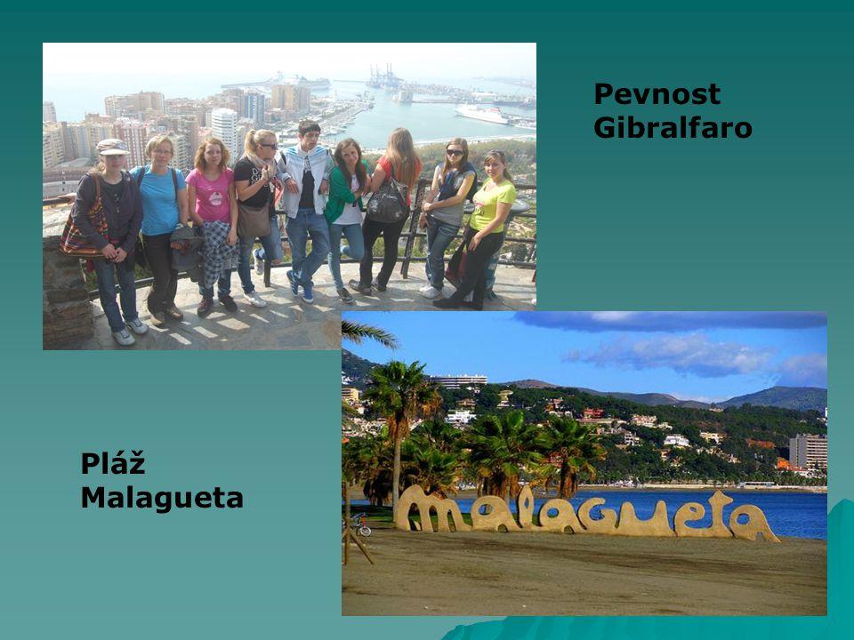 Pevnost Gibralfaro Pláž Malagueta
