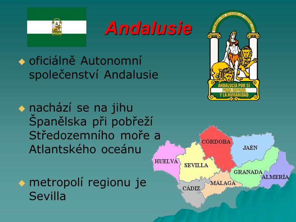 Andalusie oficiálně Autonomní společenství Andalusie