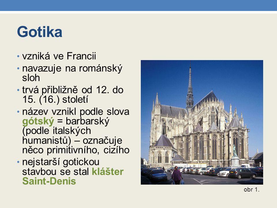 Gotika vzniká ve Francii navazuje na románský sloh