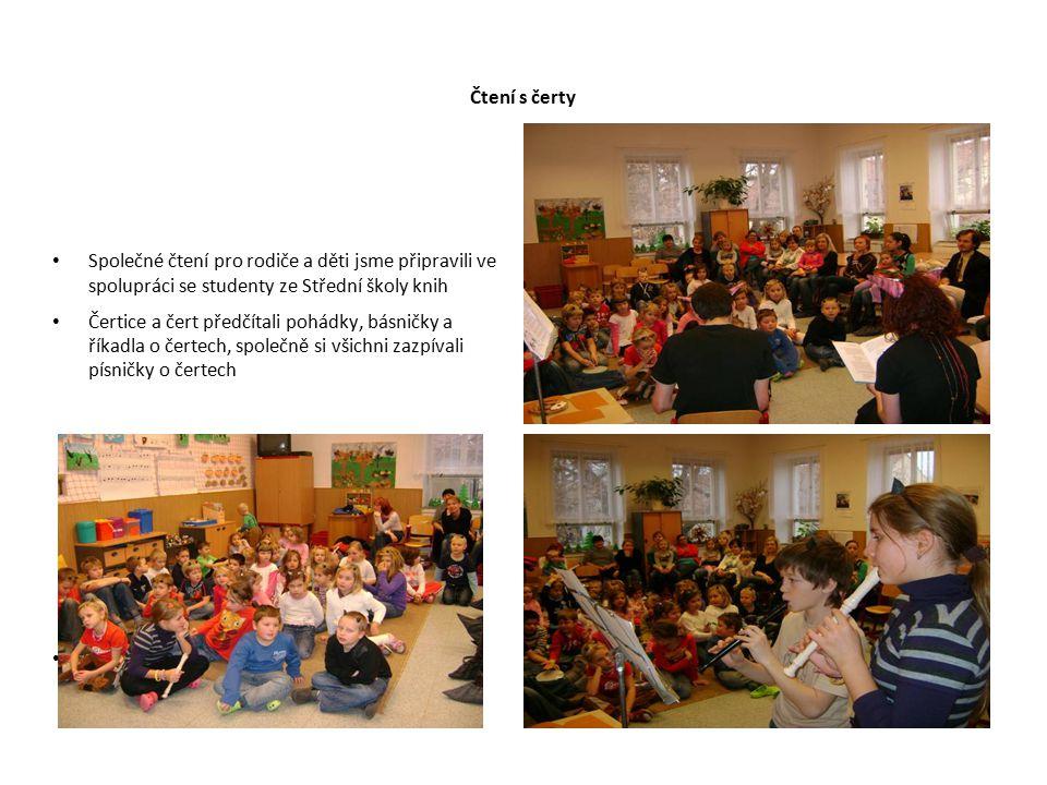 Čtení s čerty Společné čtení pro rodiče a děti jsme připravili ve spolupráci se studenty ze Střední školy knih.