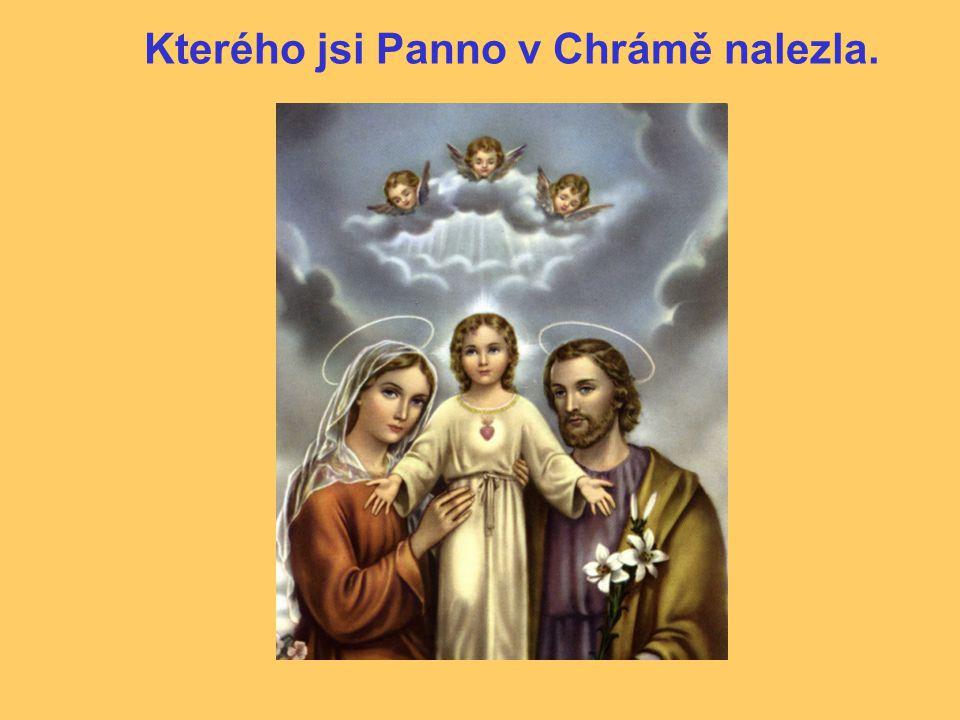 Kterého jsi Panno v Chrámě nalezla.