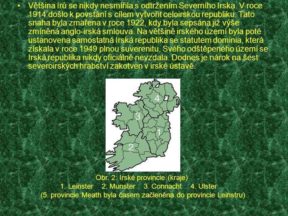 Většina Irů se nikdy nesmířila s odtržením Severního Irska