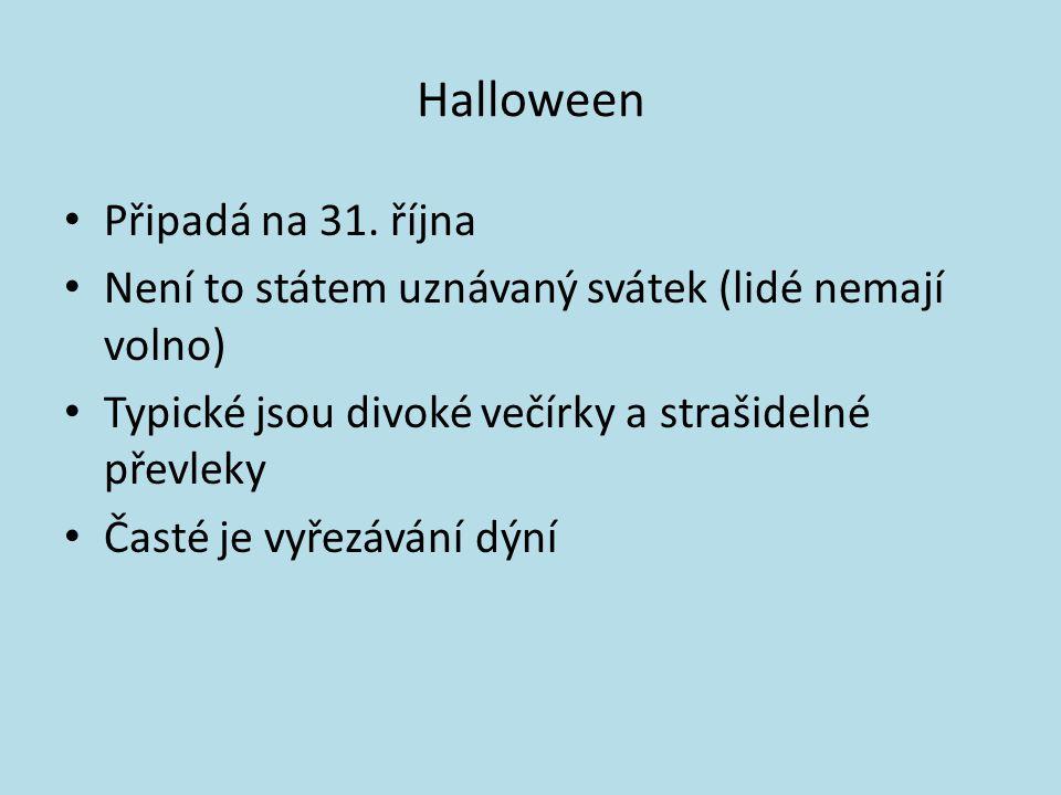 Halloween Připadá na 31. října