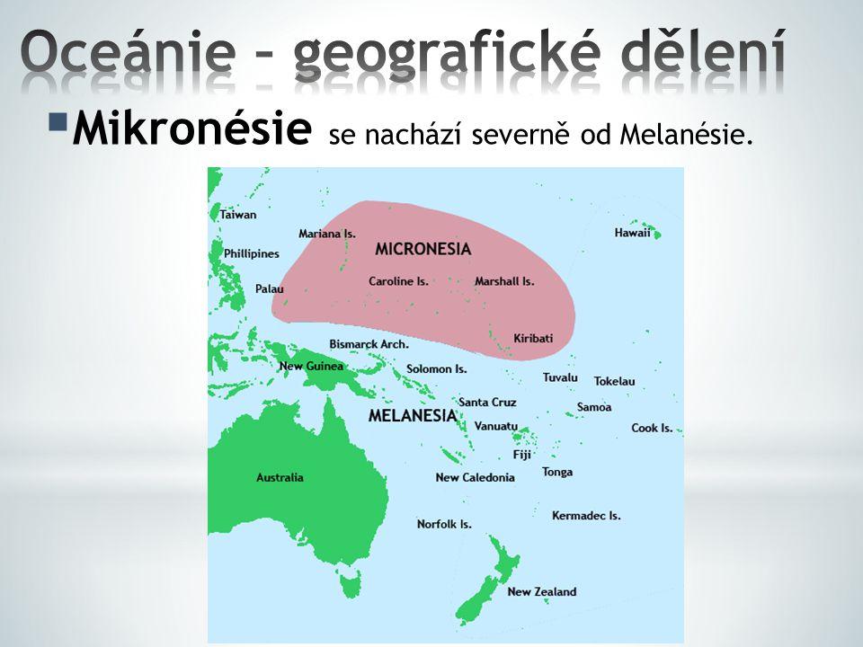 Oceánie – geografické dělení