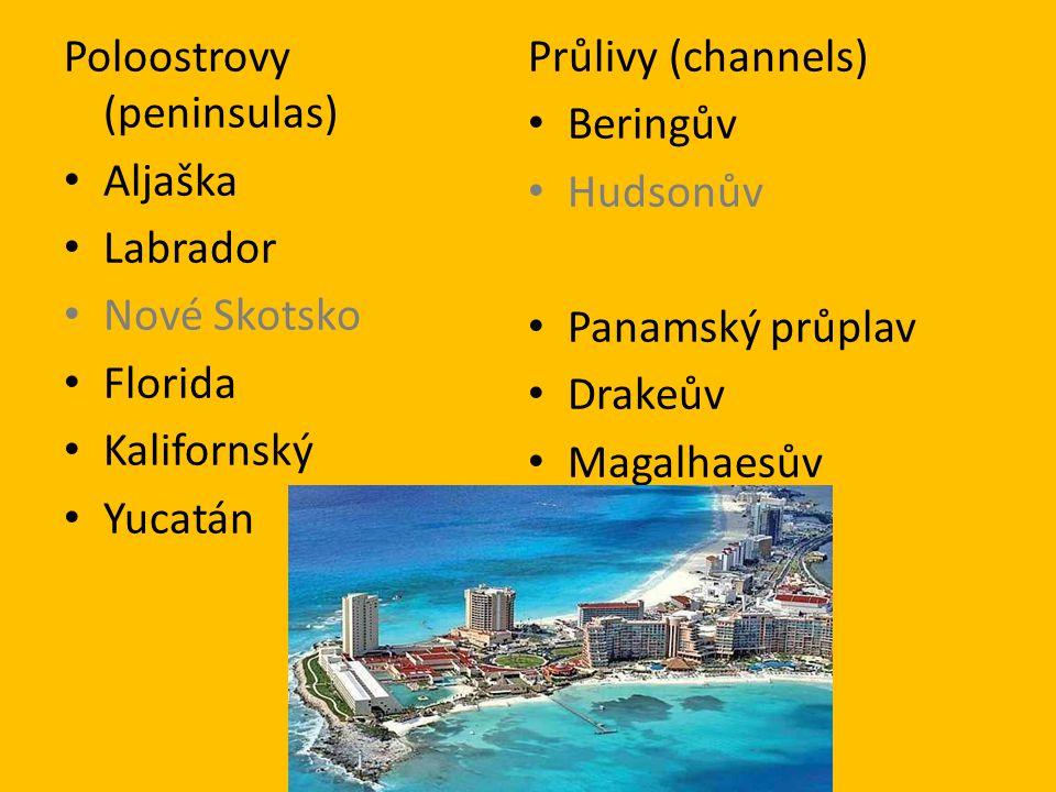 Poloostrovy (peninsulas)