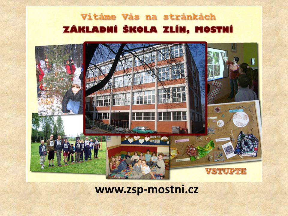 KDO JSME www.zsp-mostni.cz