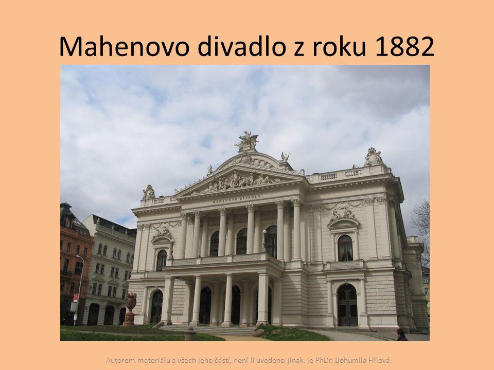 Mahenovo divadlo z roku 1882