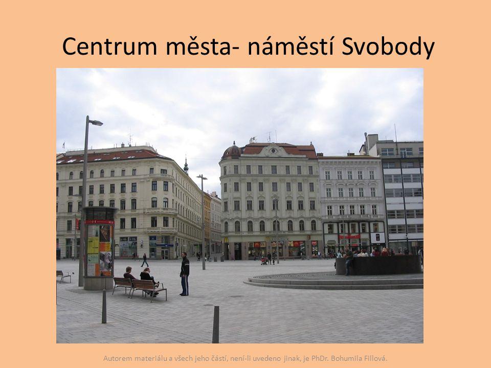 Centrum města- náměstí Svobody