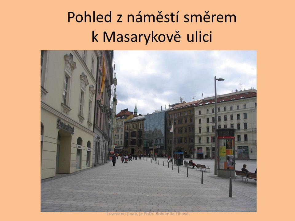 Pohled z náměstí směrem k Masarykově ulici