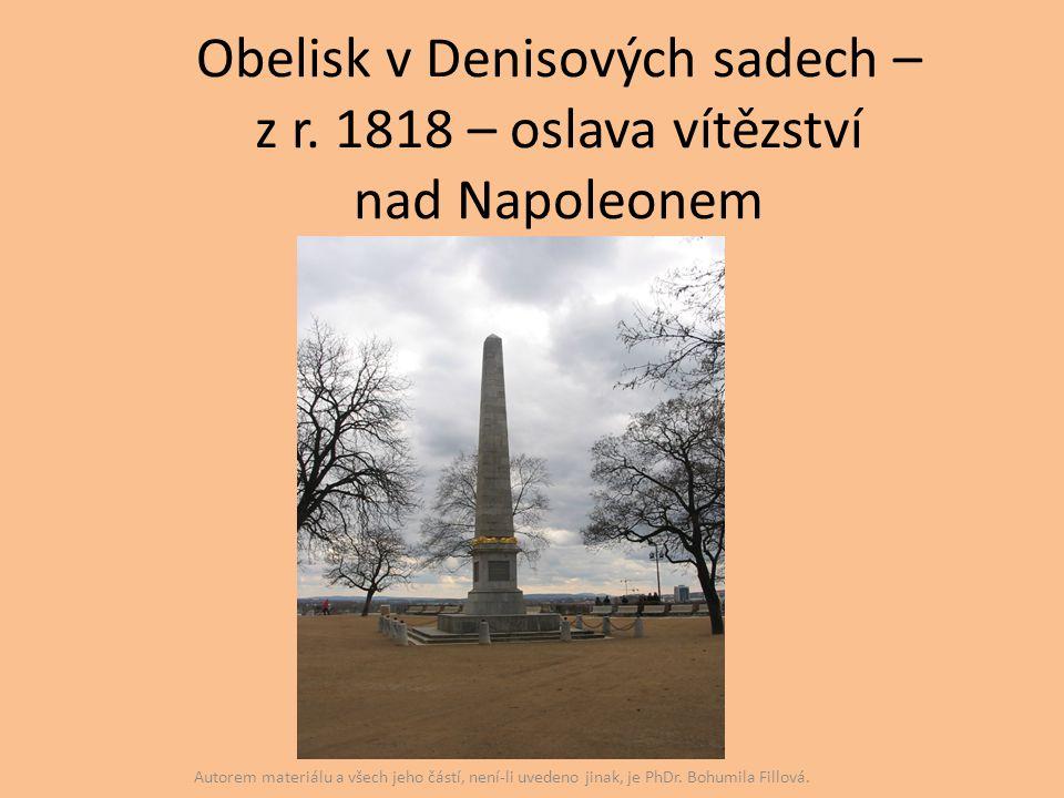 Obelisk v Denisových sadech – z r