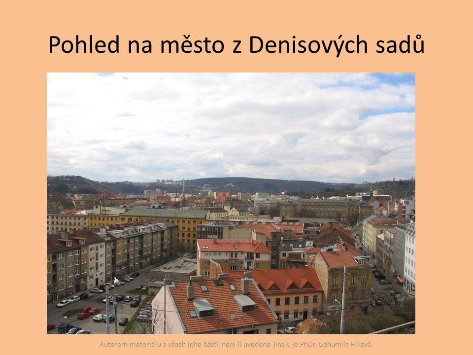 Pohled na město z Denisových sadů