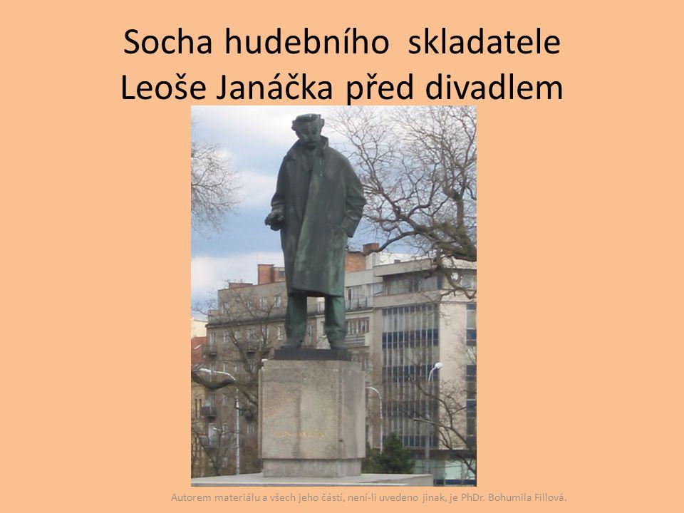 Socha hudebního skladatele Leoše Janáčka před divadlem