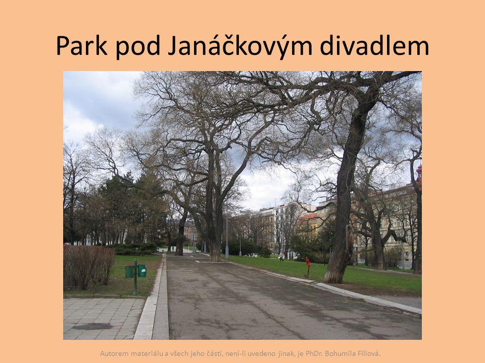Park pod Janáčkovým divadlem