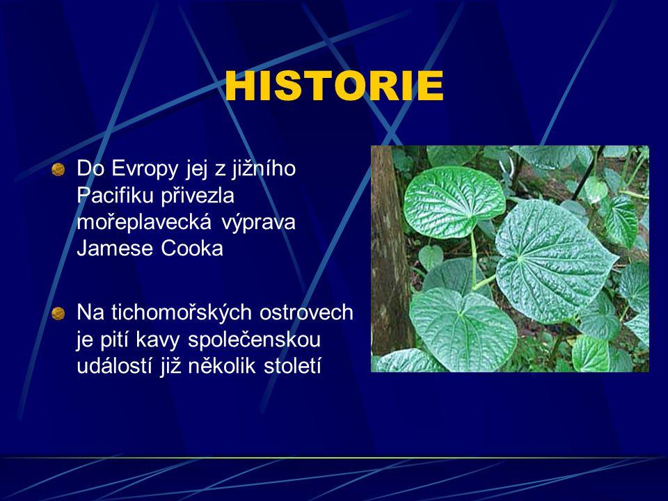 HISTORIE Do Evropy jej z jižního Pacifiku přivezla mořeplavecká výprava Jamese Cooka.