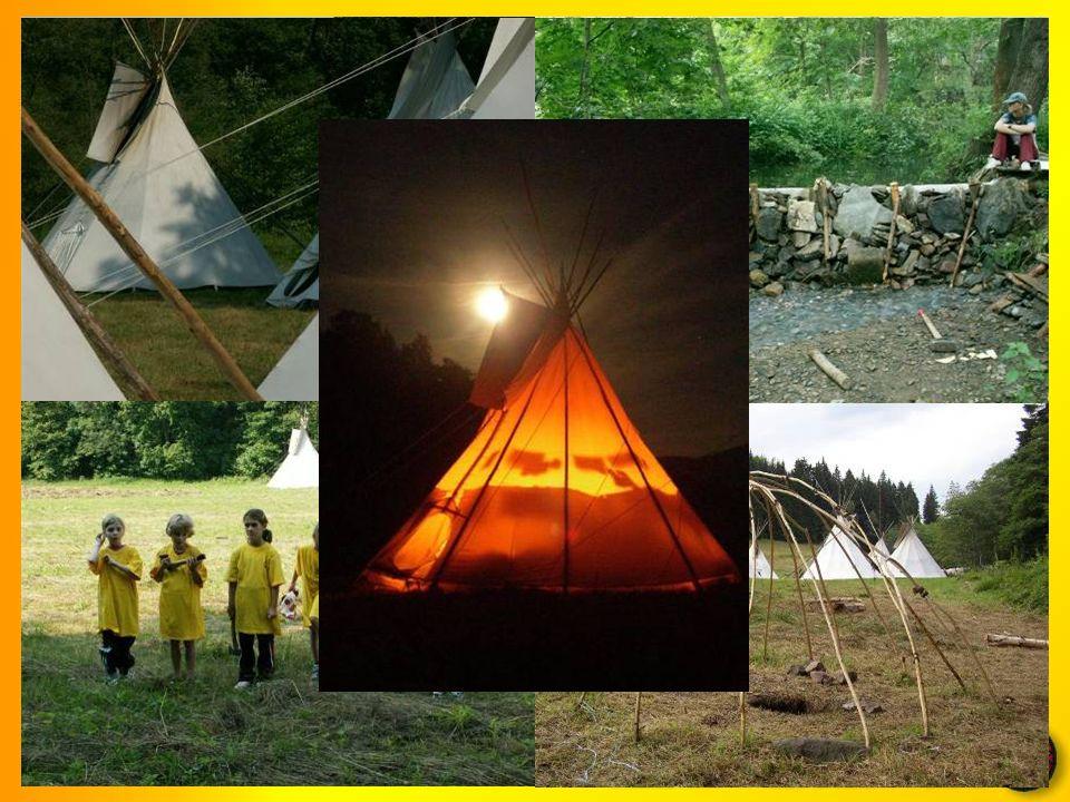 Tábor vyvrcholením činnosti oddílu je každoroční letní tábor v indiánských stanech (týpí)