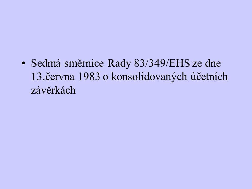 Sedmá směrnice Rady 83/349/EHS ze dne 13