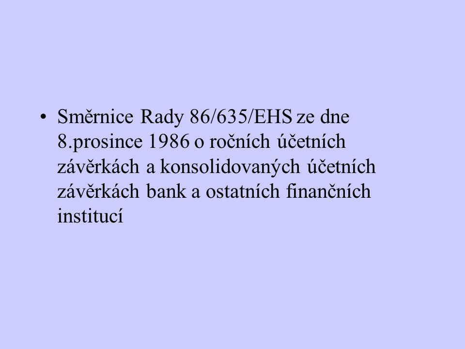 Směrnice Rady 86/635/EHS ze dne 8