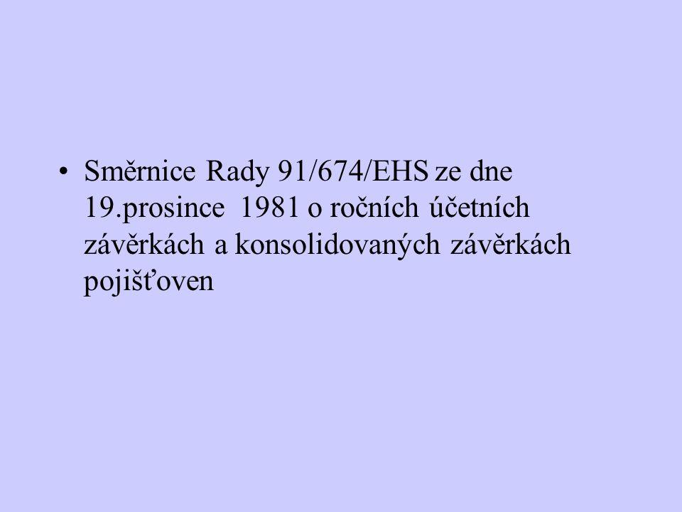 Směrnice Rady 91/674/EHS ze dne 19