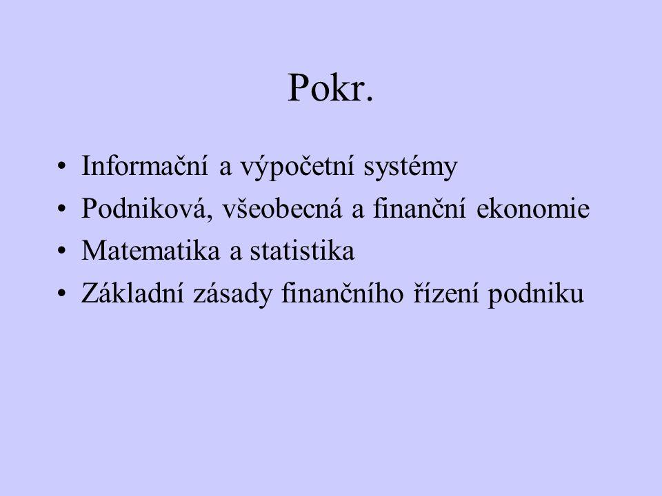 Pokr. Informační a výpočetní systémy