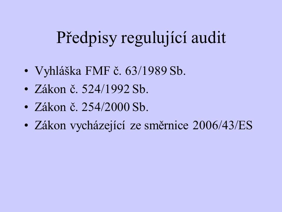 Předpisy regulující audit