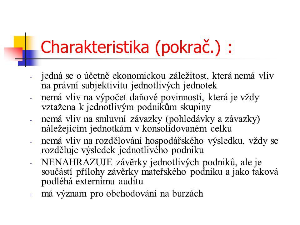Charakteristika (pokrač.) :