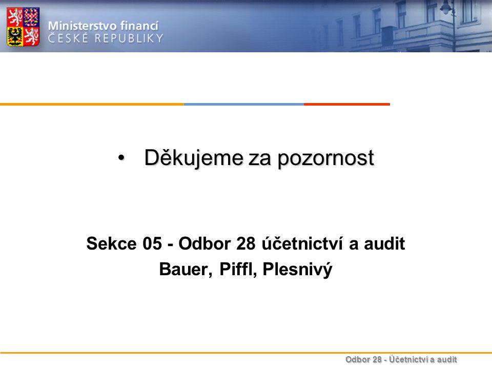 Sekce 05 - Odbor 28 účetnictví a audit