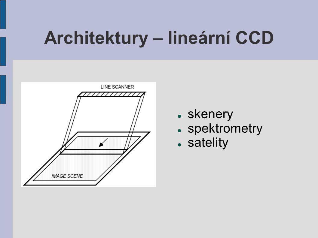 Architektury – lineární CCD