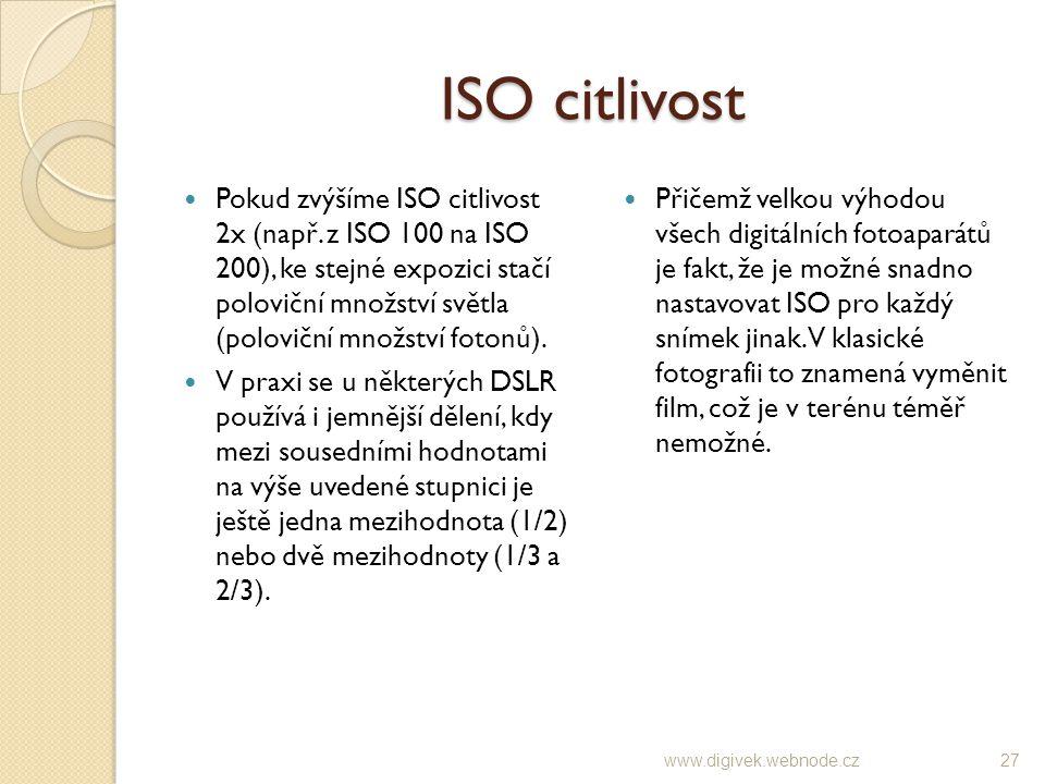 ISO citlivost