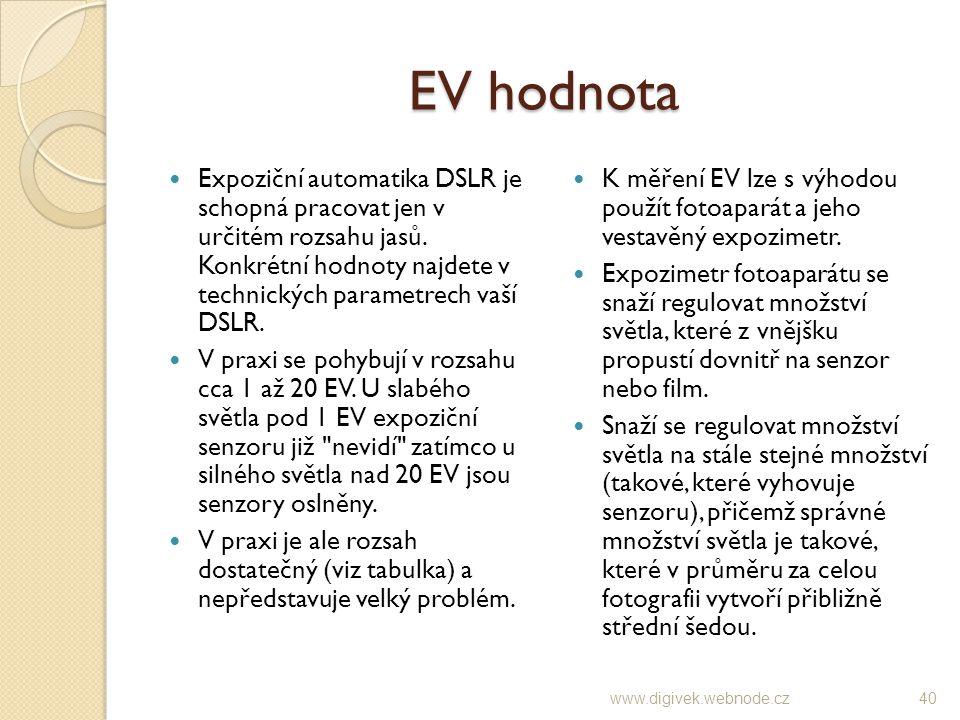 EV hodnota