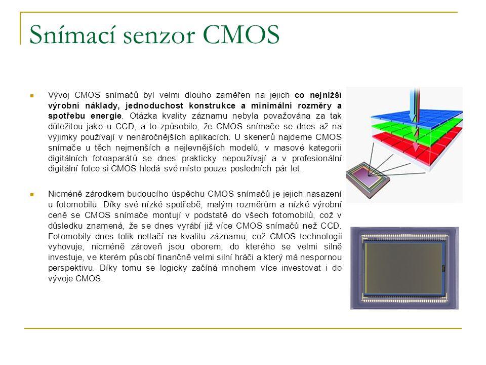 Snímací senzor CMOS